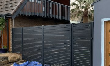 FENCING Awards nomination - Slats & Gates project by SMC Fencing Construction in Silver Sands, SA