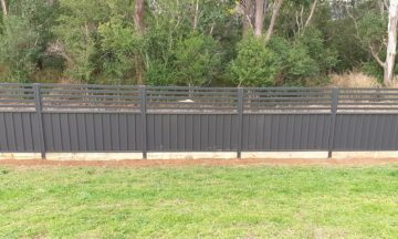 FENCING Awards nomination - COLORBOND® steel with slat breeze way on top project by Erect Fencing