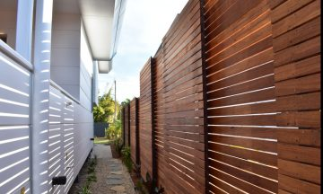 FENCING Awards nomination - State of the Art Designer Town Houses Byron Bay project by Northern Rivers Fencing