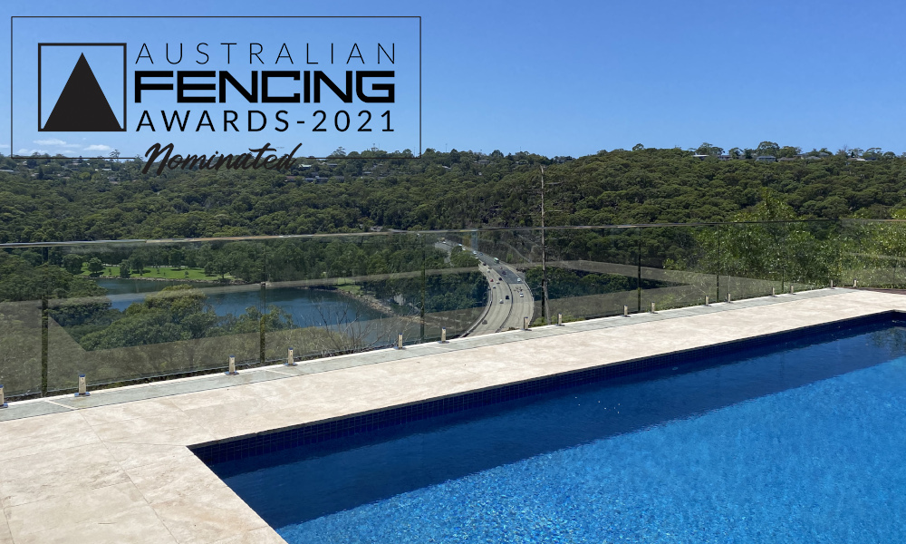 FENCING Awards 2021 nomination - Roseville Chase Balustrade and Pool Fence by JTS Glass Services
